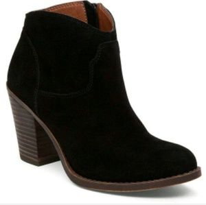 Lucky Brand Bootie black suede